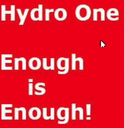 Hydro One - Enough is Enough