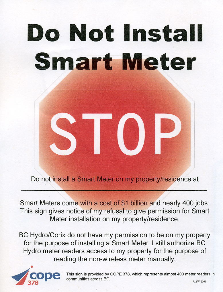 Signs | Coalition to Stop Smart Meters in BC